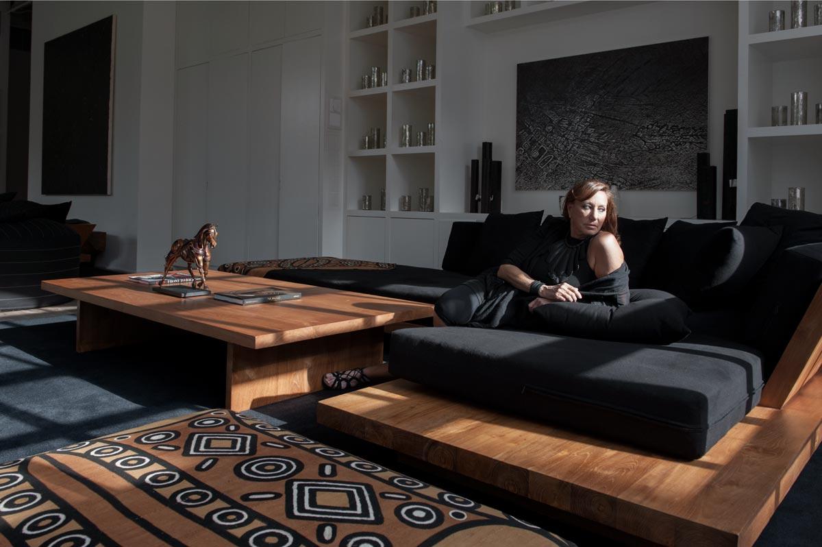 Portrait of fashion designer Donna Karan