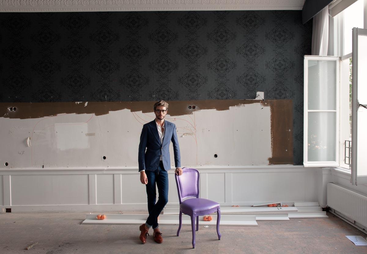 Portrait of interior designer Jacu Strauss