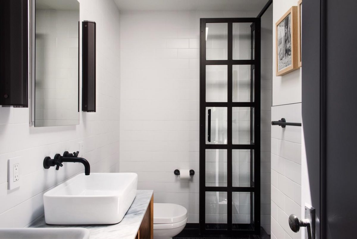 Interiors photograph bathroom brownstone