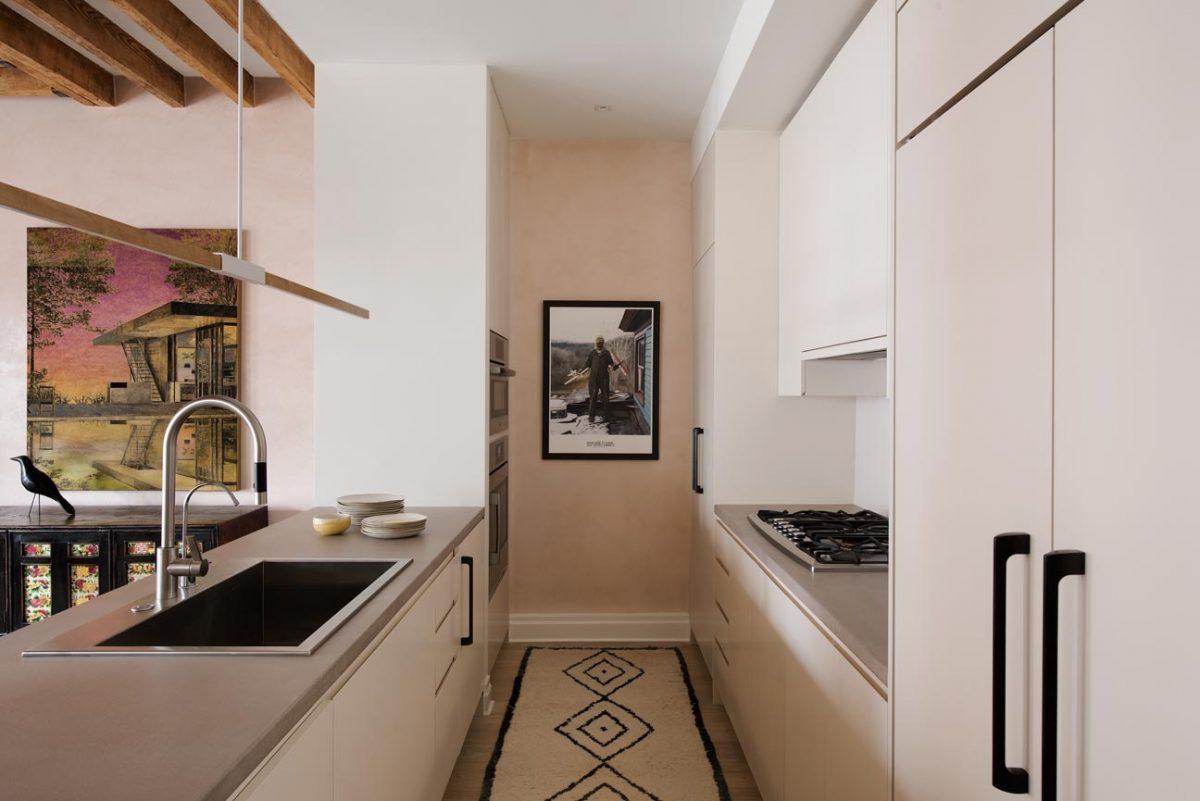 Interiors photograph of kitchen west village New York