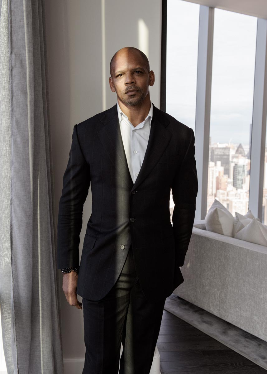 Portrait of African American man in a suit
