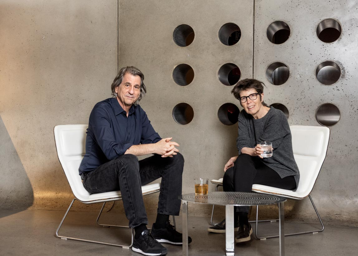 Portrait of architect David Rockwell and Liz Miller