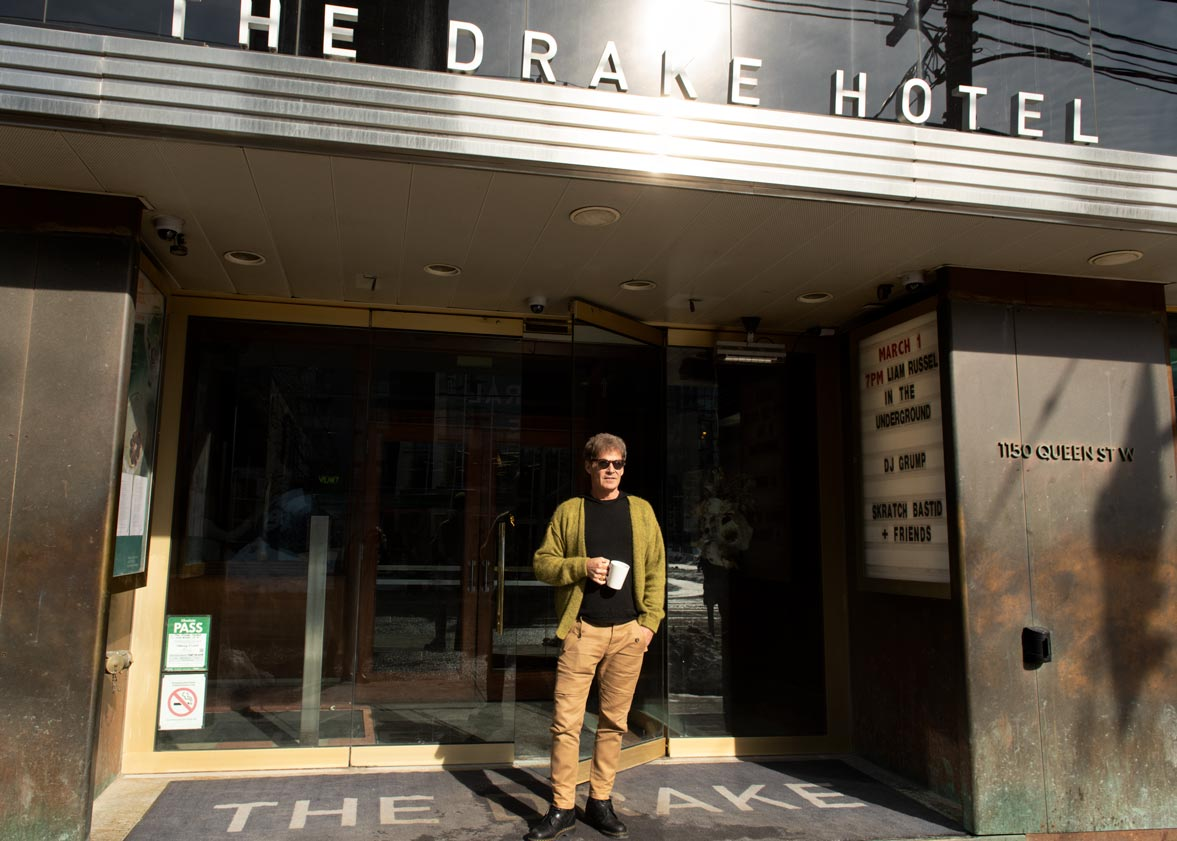 Portrait of hotelier Jeff Stober at the Drake Hotel, Toronto