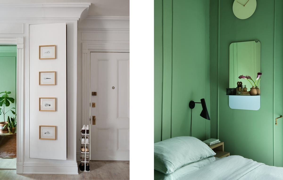 domino magazine interior green bedroom