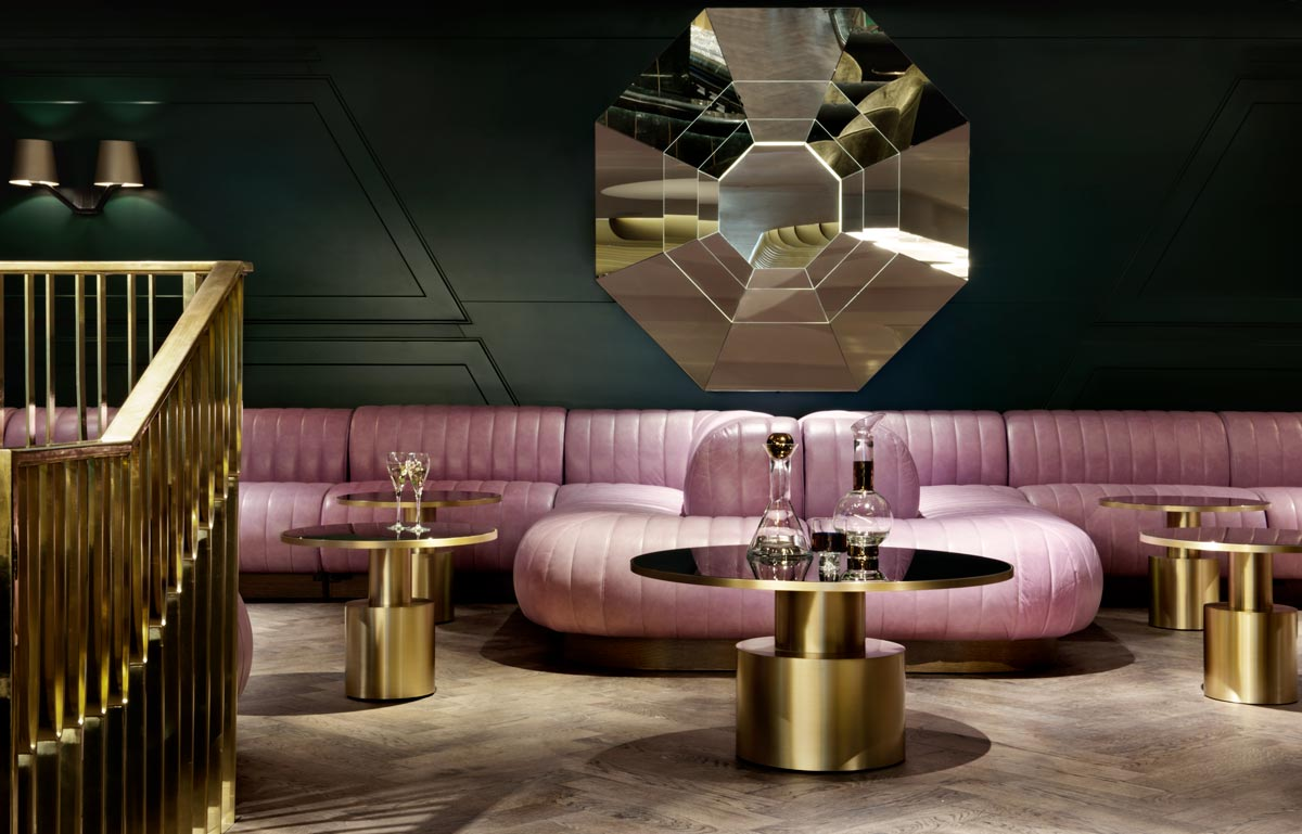 Bar at Mondrian Sea Containers Hotel, London