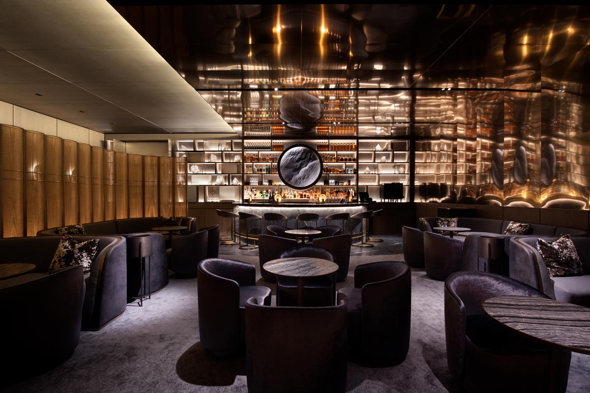 Cocktail lounge interior, Hudson Yards