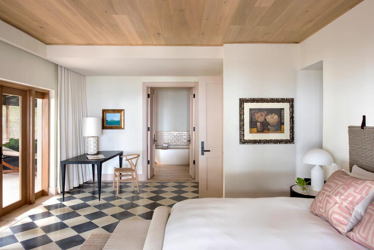 Bedroom at Su Casa villa, part of the Ritz Carlton Reserve, Dorado beach, Puerto Rico