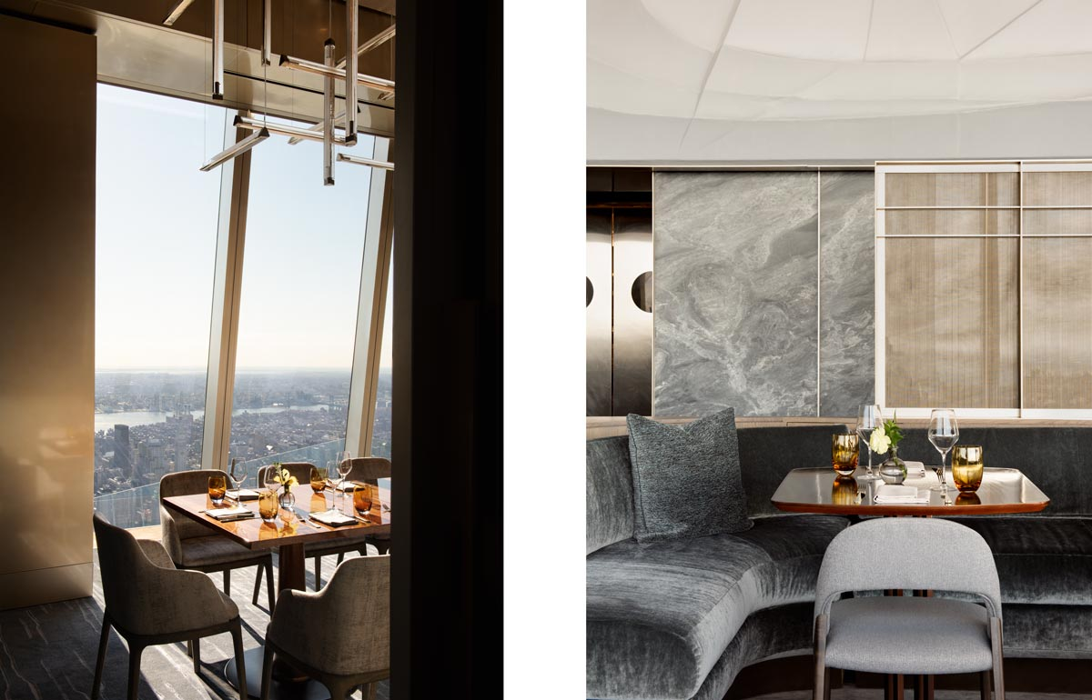 Peak Restaurant interior, Hudson Yards NYC