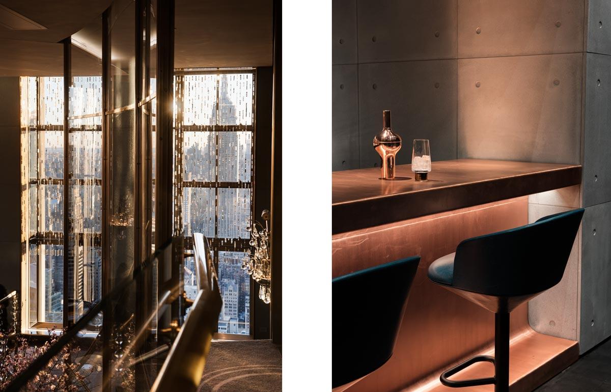 Himitsu Cocktail Lounge Atlanta and The Rainbow Room, Rockefeller centre NYC